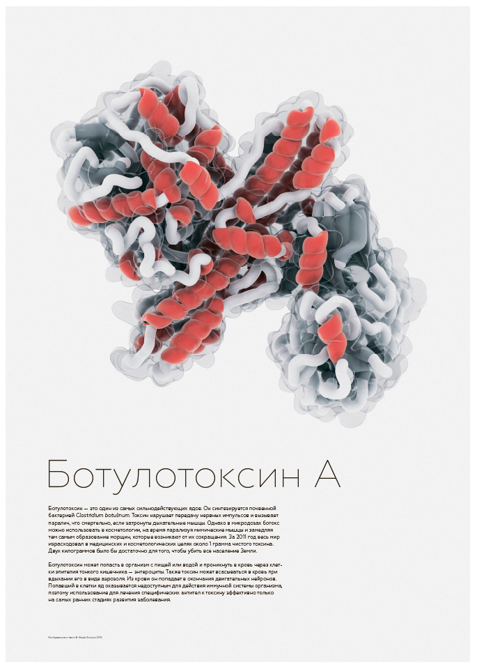 Botulotoxin A educational poster