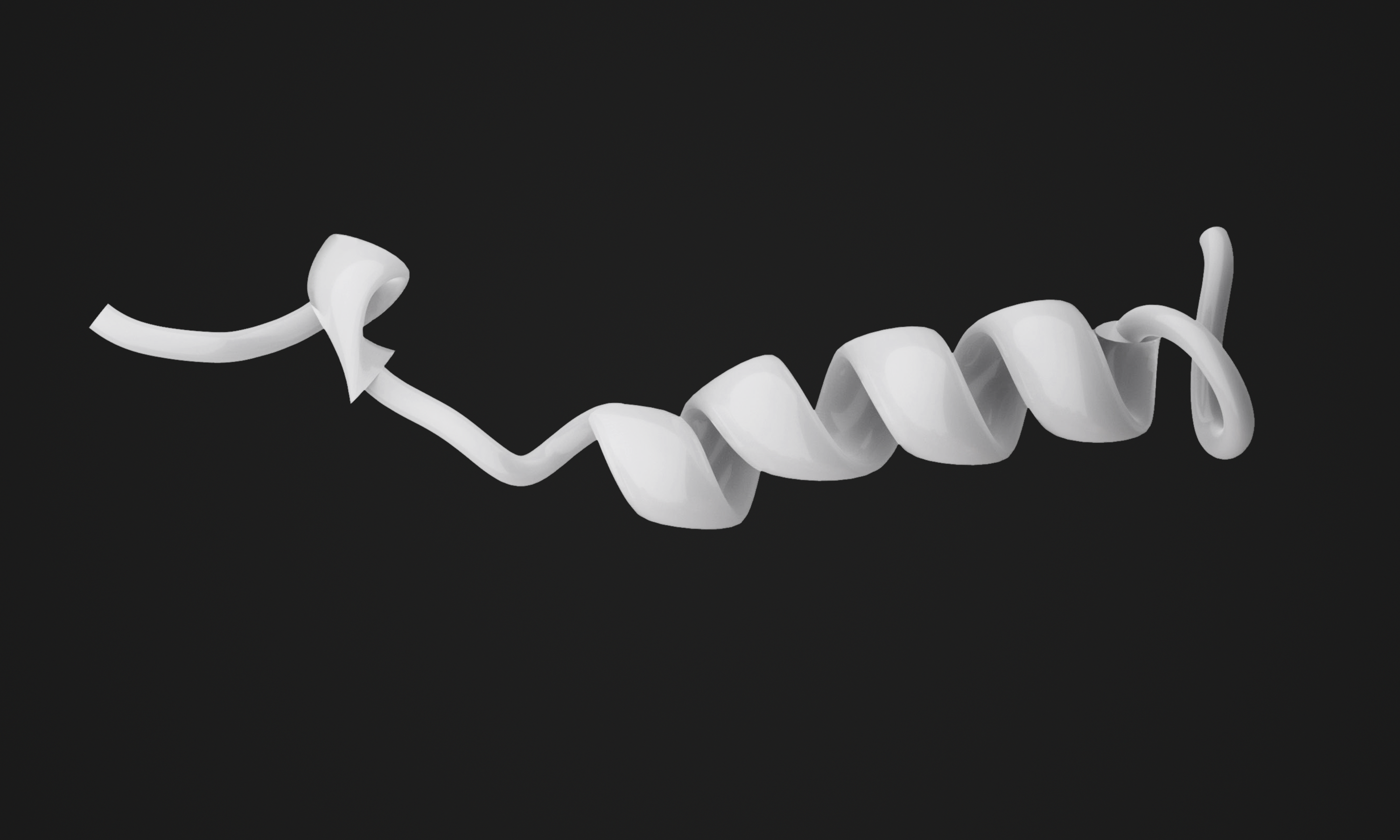 Alpha helix in short peptide
