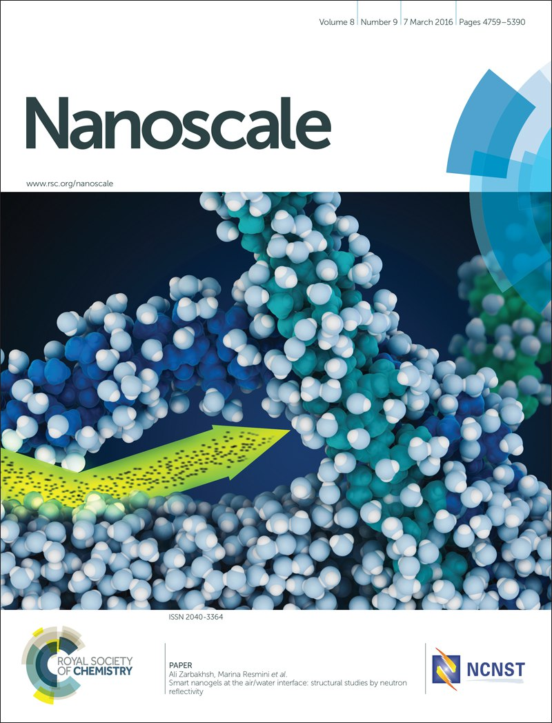 Nanoscale journal cover with Visual Science illustration