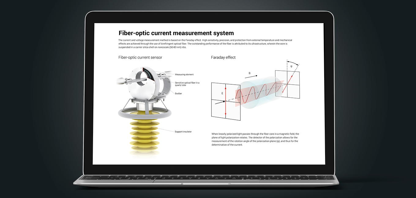 Fiber-optic current measurement system based on the Faraday effect